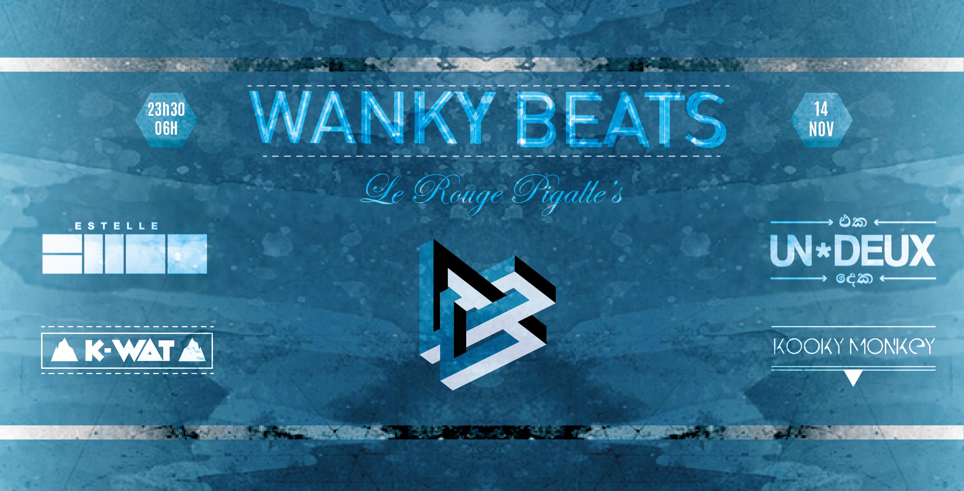 Concours : 2×2 places pour WANKY BEATS w/ UN*DEUX, Estelle CHOO, Kooky Monkey & K-Wat