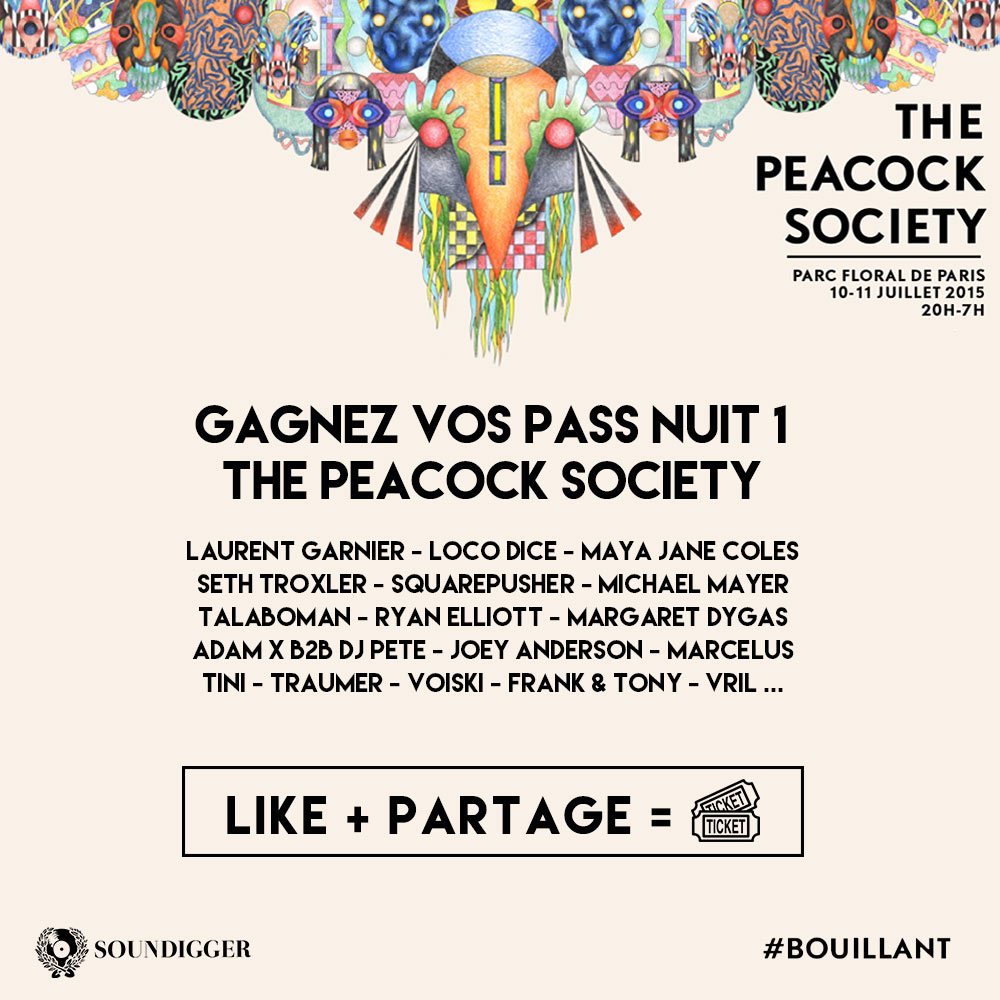 CONCOURS – 2×1 PASS – THE PEACOCK SOCIETY