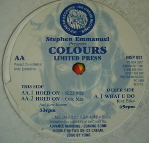 Colours – Hold On (SE22 Mix)